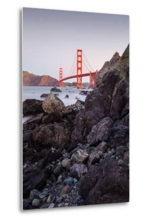 View From The Rocks II, Golden Gate Bridge, San Francisco-Vincent James-Metal Print