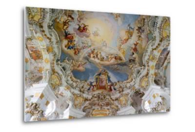 The Weiskirche (White Church), UNESCO World Heritage Site, Near Fussen, Bavaria, Germany, Europe-Robert Harding-Metal Print