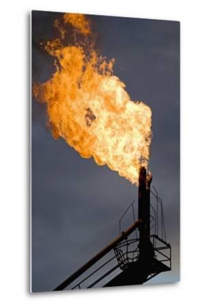 Natural Gas Flare--Metal Print