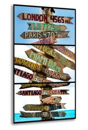 Triptych Collection - Destination Signs - Key West - Florida-Philippe Hugonnard-Metal Print