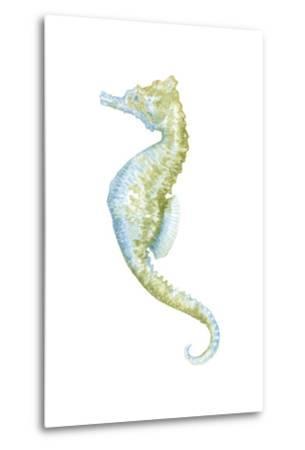Watercolor Seahorse II-Megan Meagher-Metal Print