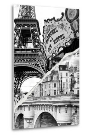 Dual Torn Posters Series - Paris - France-Philippe Hugonnard-Metal Print