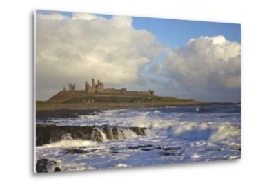 Surf on Rocks, Dunstanburgh Castle, Northumberland, England, United Kingdom, Europe-Peter Barritt-Metal Print