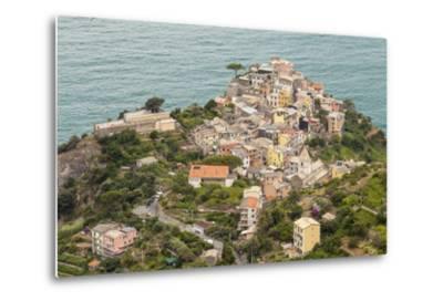 The Village of Corniglia in the Cinque Terre, UNESCO World Heritage Site, Liguria, Italy, Europe-Julian Elliott-Metal Print