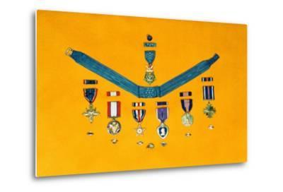 United States Military Medals--Metal Print