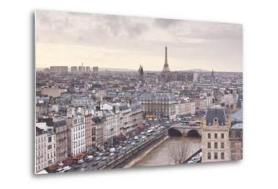 The City of Paris as Seen from Notre Dame Cathedral, Paris, France, Europe-Julian Elliott-Metal Print