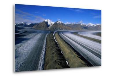 Russell Glacier and Moraines-Paul Souders-Metal Print