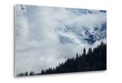 Cloud-Obscured Mountains Along Endicott Arm, Ford's Terror Wilderness, Inside Passage, Alaska-Michael Melford-Metal Print