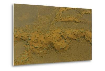 An Aerial View of the Dunes at Namib-Naukluft National Park, in the Namib Desert-Jonathan Irish-Metal Print