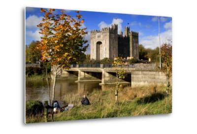 Bunratty Castle on the River Shannon in County Clare, Ireland-Chris Hill-Metal Print