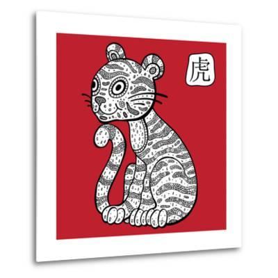 Chinese Zodiac. Animal Astrological Sign. Tiger.-Katyau-Metal Print