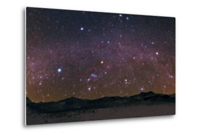 Meteors Streak the Night Sky Above the Zagros Mountains During the Geminids Meteor Shower-Babak Tafreshi-Metal Print