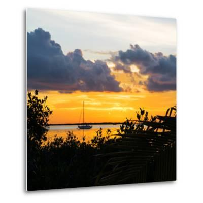 Sunset Landscape with a Yacht - Miami - Florida-Philippe Hugonnard-Metal Print