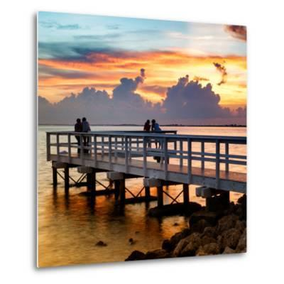 The Pier at Sunset Lovers-Philippe Hugonnard-Metal Print