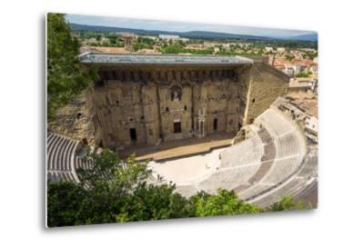 Amphitheatre and View over Town, Orange, Provence Alpes-Cote D'Azur, France, Europe-Peter Groenendijk-Metal Print