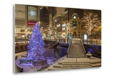 A Christmas Tree on North Michigan Ave in the Magnificent Mile-Richard Nowitz-Metal Print