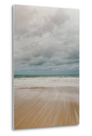 Tidal Motion on Carbis Bay Beach, St. Ives, Cornwall, England, United Kingdom, Europe-Mark Doherty-Metal Print