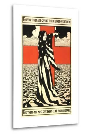 War Propaganda of Bond Sales--Metal Print