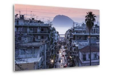 Greece, Peloponese Region, Patra, Elevated City View over Agios Nikolaos Street-Walter Bibikow-Metal Print