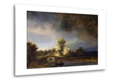 The Stone Bridge-Rembrandt van Rijn-Metal Print