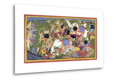 Battle Between the Armies of Rama and the King of Lanka--Metal Print