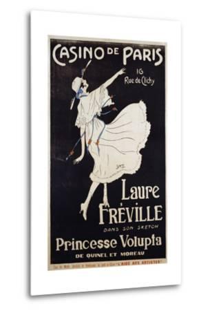 Casino De Paris Laure Freville Poster--Metal Print