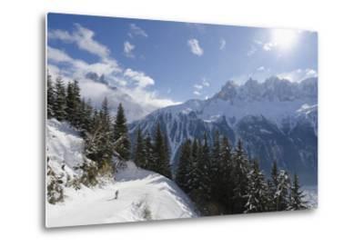 Brevant Ski Area, Aiguilles De Chamonix, Chamonix, Haute-Savoie, French Alps, France, Europe-Christian Kober-Metal Print