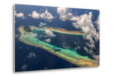 Aerial of the Very Beautiful Ant Atoll, Pohnpei, Micronesia, Pacific-Michael Runkel-Metal Print