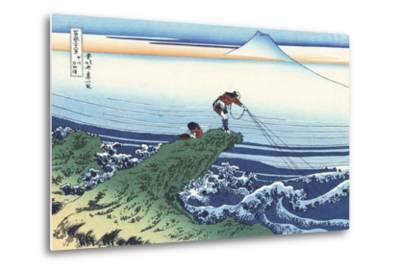 Kajikazawa in Kai Province-Katsushika Hokusai-Metal Print