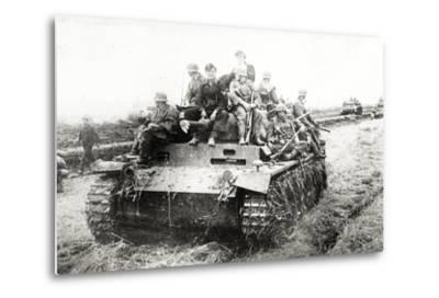 A German Panzer Pz Kpwiii Ausfe Tank--Metal Print