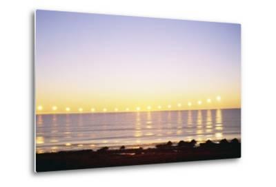 Midnight Sun over Sigurdarstadavik Bay-Paul Souders-Metal Print