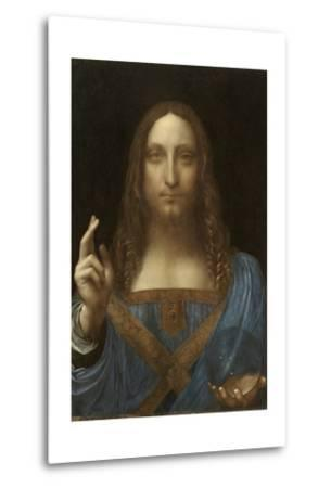 Salvator Mundi Attributed to Leonardo Da Vinci--Metal Print