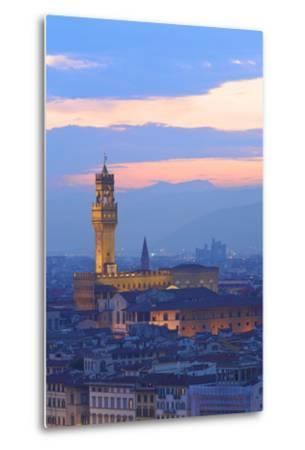 Palazzo Vecchio from Piazzale Michelangelo-Neil Farrin-Metal Print
