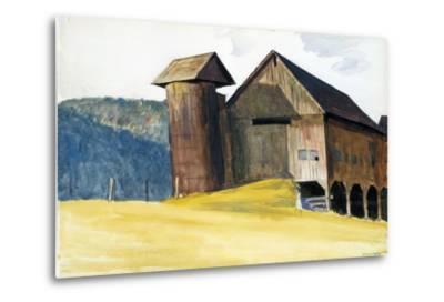 Barn and Silo, Vermont-Edward Hopper-Metal Print