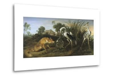 Fable of the Fox and the Heron-Frans Snyders-Metal Print