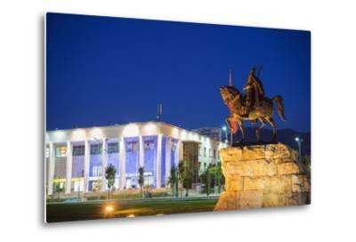 Equestrian Statue of Skanderbeg, Tirana, Albania, Europe-Christian Kober-Metal Print