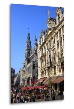 Grand Place, UNESCO World Heritage Site, Brussels, Belgium, Europe-Neil Farrin-Metal Print