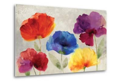 Jewel Florals-Anna Polanski-Metal Print