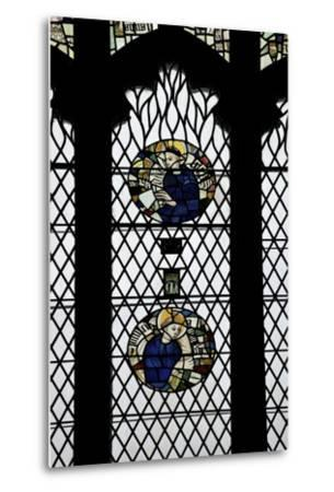 Monks in Stained Glass-Peter Barritt-Metal Print