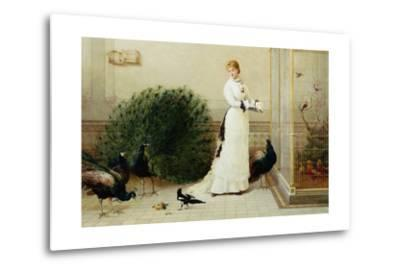 In the Conservatory Heywood Hardy--Metal Print