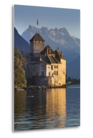 The Castle of Chillon, on Lake Geneva, Montreux, Canton Vaud, Switzerland, Europe-Angelo Cavalli-Metal Print
