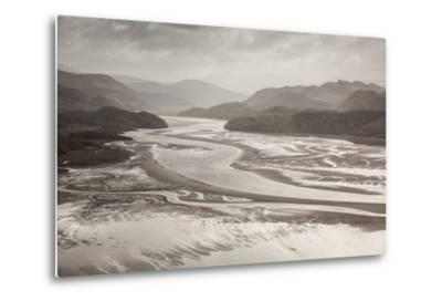 Mawddach Estuary at Low Tide, Barmouth, Snowdonia National Park, Gwynedd, Wales, May 2012-Peter Cairns-Metal Print