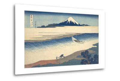Bushu Tamagawa (The Tama River in Musashi Province)-Katsushika Hokusai-Metal Print