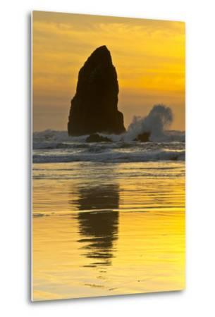 Sunset, Cannon Beach, Oregon, USA-Michel Hersen-Metal Print