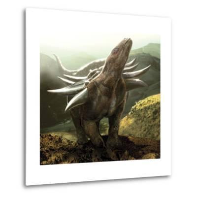 A Heavily Armored Panoplosaurus Dinosaur-Stocktrek Images-Metal Print