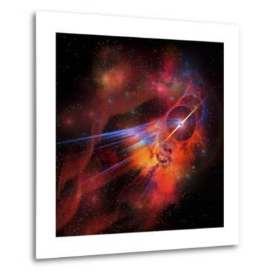 A Collection of Colorful Nebulae, Gases, Dust, Stars and Interstellar Matter-Stocktrek Images-Metal Print