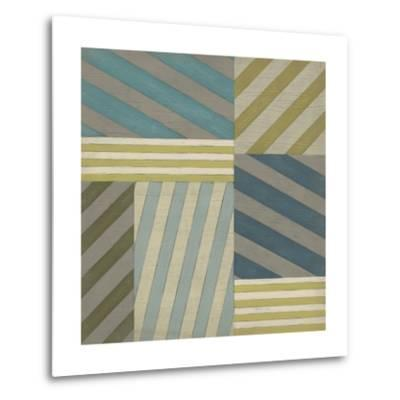 Nautical Stripes II-June Erica Vess-Metal Print