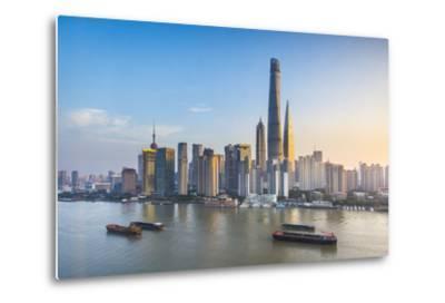 Shanghai Tower and the Pudong Skyline across the Huangpu River, Shanghai, China-Jon Arnold-Metal Print