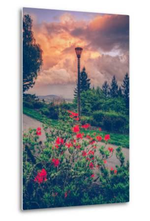 Spring Storm at Pittock Mansion, Portland Oregon--Metal Print