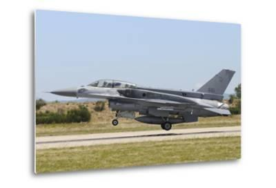F-16D Falcon from the Republic of Singapore Air Force Landing-Stocktrek Images-Metal Print
